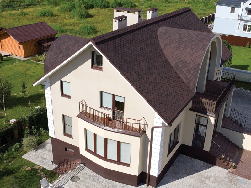 Дизайн крыши частного дома фото