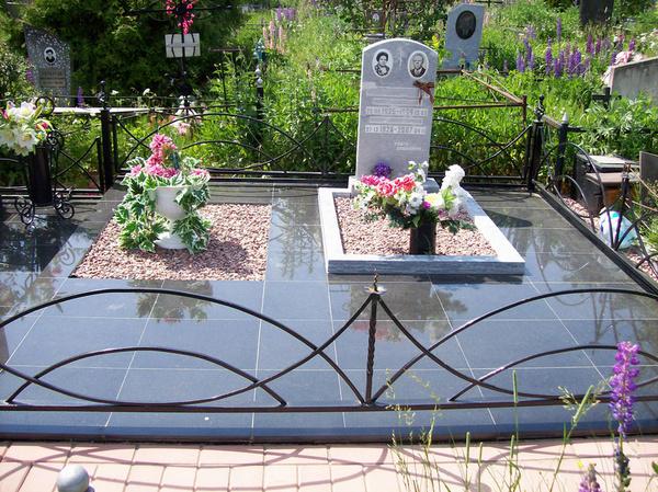 Облицовка могилы гранитной плиткой своими руками