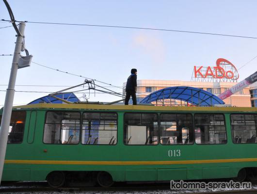 С утра движение трамваев по